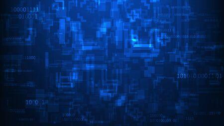 Abstract blue technology concept background. Vector illustration EPS10 Standard-Bild - 136511466
