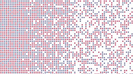 Pixel, halftone effect. Geometric background with stars. Vector illustration
