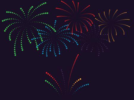 Fireworks vector illustration. Festive background EPS10