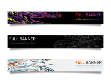 Web banner set. Vector design for website. EPS10 Ilustracja