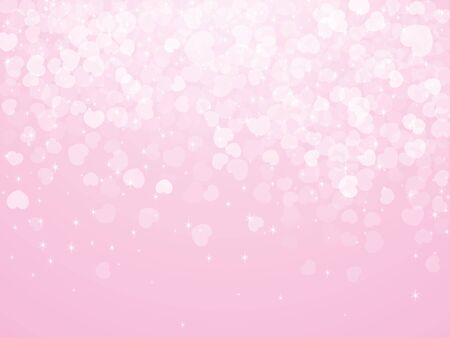 Valentine's Day Background. Abstract background with falling hearts. Vector template design EPS10 Standard-Bild - 136935793