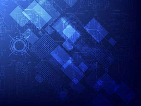 Abstract blue technology concept background. Vector illustration EPS10 Ilustracja