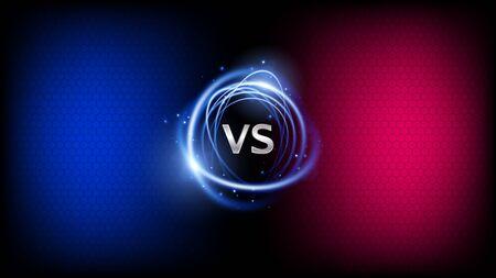 VS, versus battle background. Sports competition. Vector design Illustration