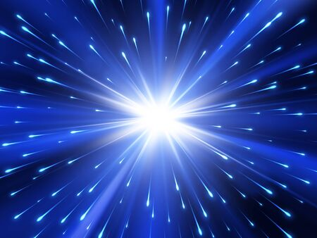 Blue explosion background with rays. Vector absrtact illustration EPS10