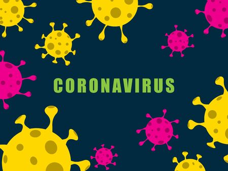 Coronavirus, COVID-19 background. Pandemic medical concept. Vector illustration