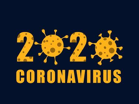 Coronavirus, COVID-19 background. Pandemic medical concept. Vector illustration EPS10 Illusztráció