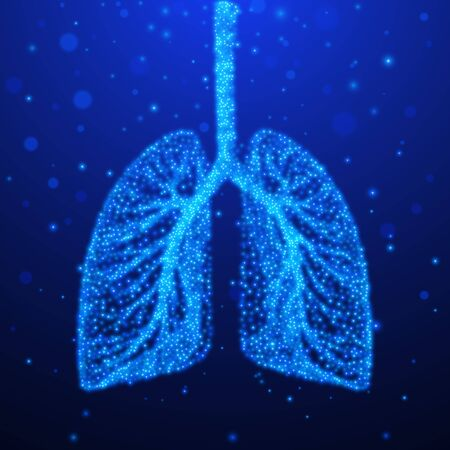 Human lungs. Respiratory system. Vector illustration EPS10