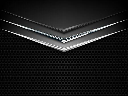 Black and white metal texture background. Vector illustration EPS10 Illusztráció