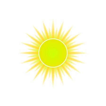 Sun icon for weather design. Vector logo EPS10 Illusztráció