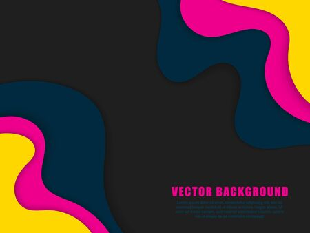 Abstract paper cut background. Vector background with waves.EPS10