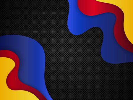 Abstract paper cut background. Vector background with waves. EPS10