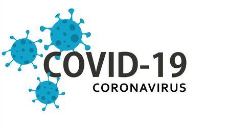 Coronavirus, COVID-19 background. Pandemic medical concept. Vector illustration. EPS10 Illusztráció