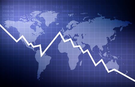 Global crisis. World Economy. Abstract vector background EPS10
