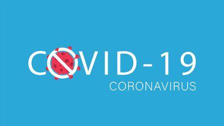 Stop coronavirus, COVID-19 background. Pandemic medical concept. Vector illustration EPS10 Illusztráció