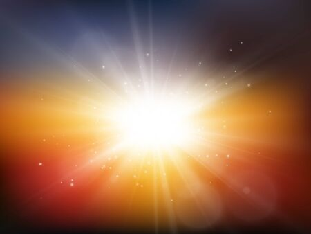 Sun with rays. Summer background. Star burst with sparkles. Vector illustration EPS10