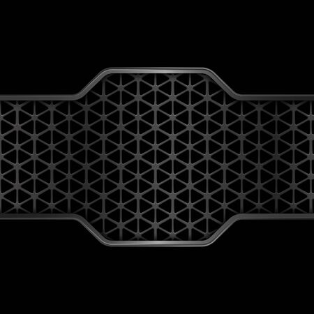Black metal texture background. Geometric pattern. Abstract vector illustration EPS10