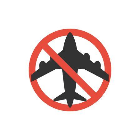 Stop travel sign. Coronavirus concept. Vector illustration EPS10