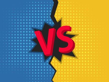VS background. Versus screen design. Pop art style. Vector illustration EPS10 Illusztráció
