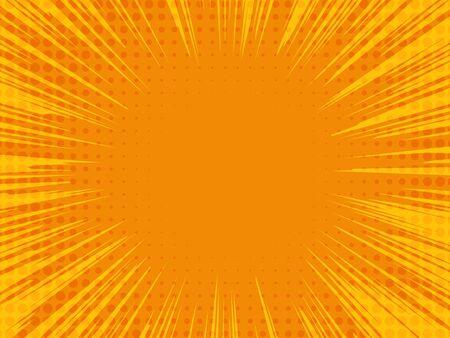 Comic book background. Radial lines speed frame. Vector illustration EPS10