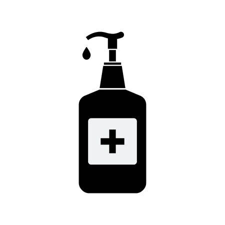 Hand sanitizer pump bottle sign. Vector illustration EPS10