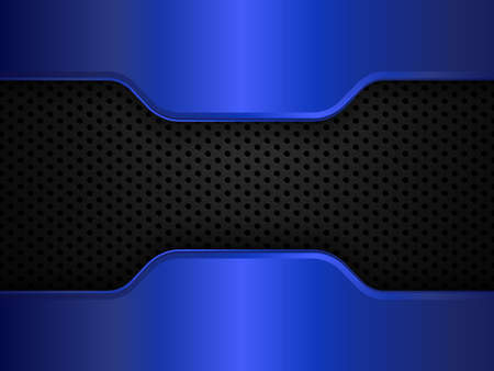 Black and blue metal background. Vector design template EPS10