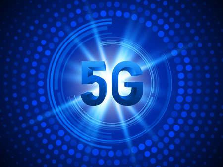 5G technology concept background. High speed internet. Vector illustration EPS10