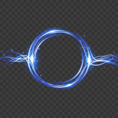 Vector light effect. Energy flow. Magic frame. Vector illustration EPS10 Ilustrace