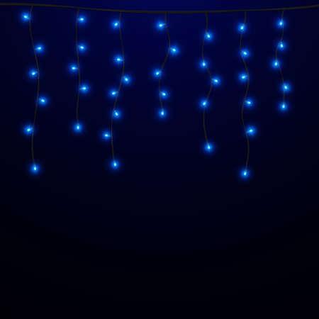 Christmas lights. Glowing light bulb. Vector illustration EPS10