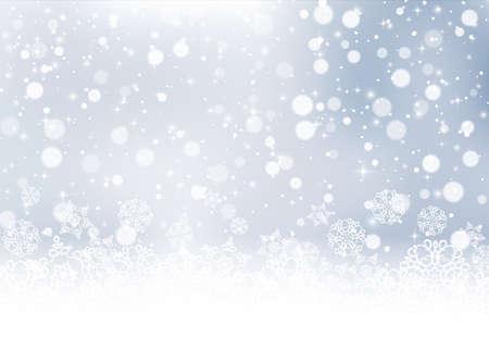 Falling snow texture. Christmas festive background. Vector Illustration EPS10 Ilustração