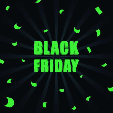 Black friday sale banner. Vector illustration EPS10