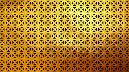 Gold metal wall. Abstract geometric pattern. Vector illustration EPS10