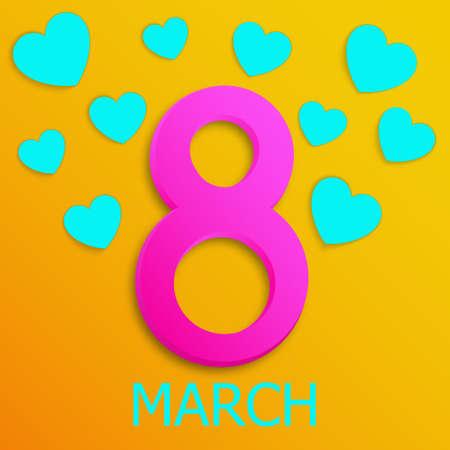 March 8. International Women's Day banner. Vector illustration EPS10 Illusztráció