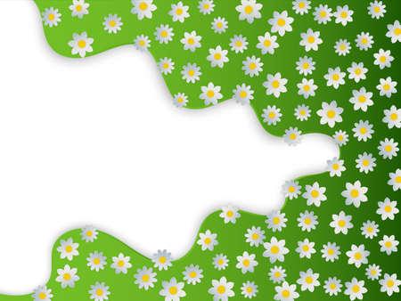 Spring background with flower. Vector illustration EPS10