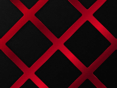 Red and black metal background. Abstract vector illustration EPS10