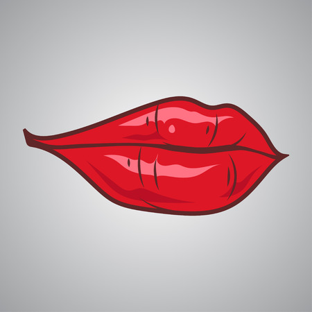 girl mouth: Red sexy lips