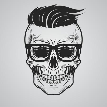 skeleton man: Schädelillustration Illustration