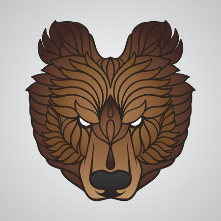 Abstract bear head