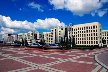 pacification: summer day belorussian landscape Minsk independence square