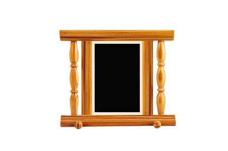 lacquered: simple but very useful lacquered  pine frame isolated on white