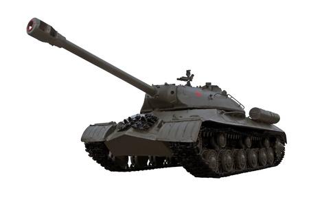 seconda guerra mondiale: guerra mondiale due leggendari guardie sovietico carro pesante IS3 Iosif Stalin isolato su sfondo bianco