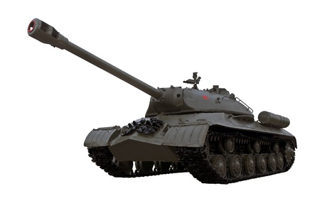 war tank: Guerra Mundial dos legendarios guardias sovi�ticos tanque pesado IS3 Iosif Stalin aisladas sobre fondo blanco  Foto de archivo