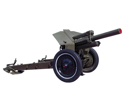 world war two: world war two vintage rarity soviet howitzer M30 isolated on white background