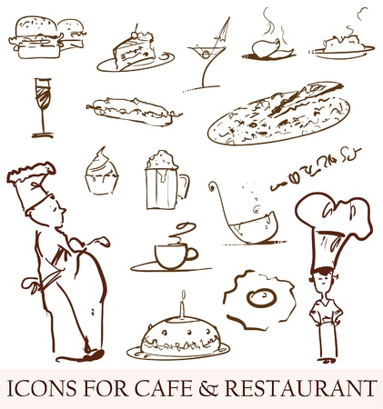 spaghetti dinner: cafe icons