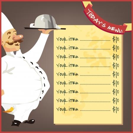 Chefs menu background food restaurante white design delitias Ilustração