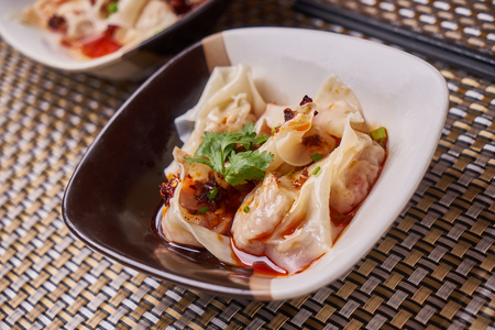 Wonton in red chili oil