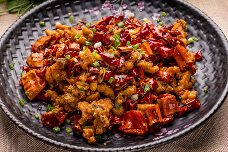 Chinese traditional cuisine, spicy chicken