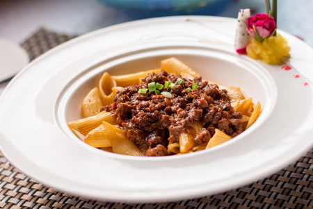Delicious penne bolognese