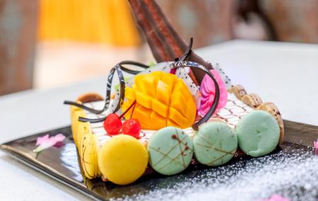 Mango chocolate cake 写真素材
