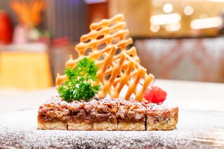 Waffle cheesecake 写真素材