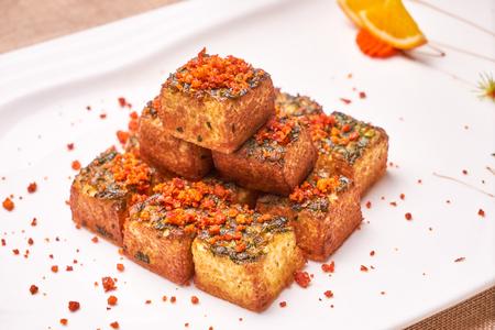Deep fried tofu with perilla 写真素材